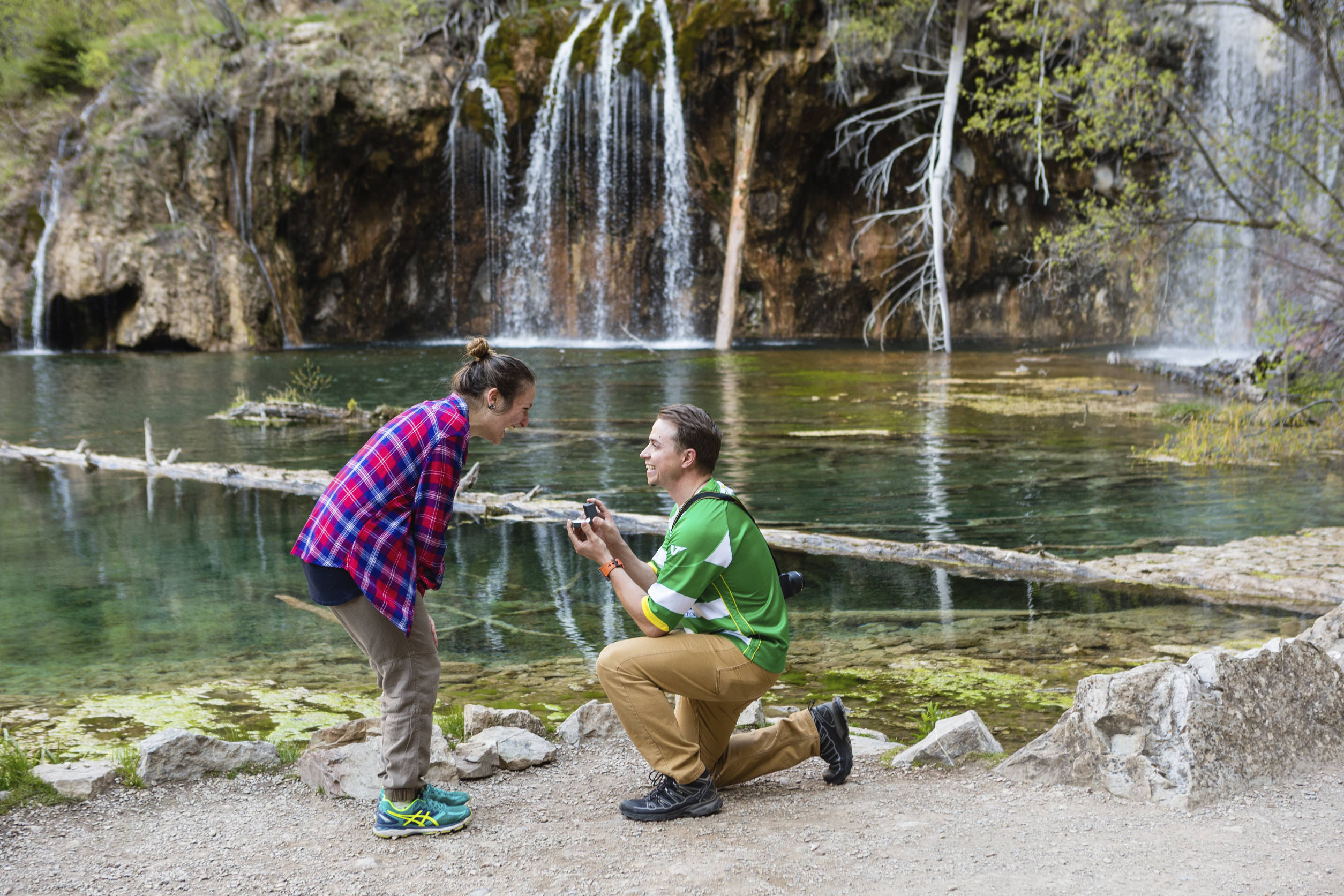 Hanging Lake Surprise Proposal Photography | Windfirm Photography