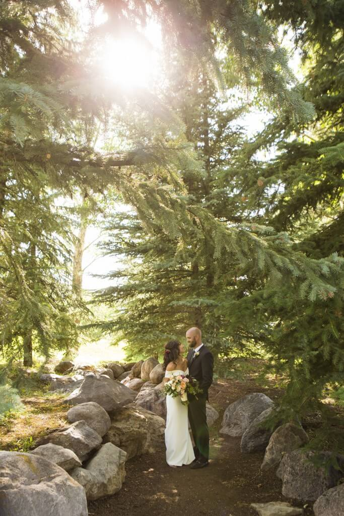 Bride and Groom Portraits in Vail