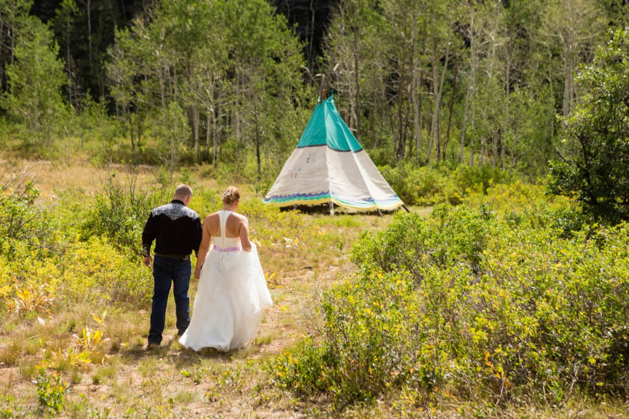 Bride and Groom Portraits on the Wester Slope